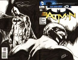 Batman and Bane by stevescott