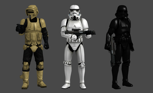Star Wars Texverse - Galactic Empire Troopers by TexPool