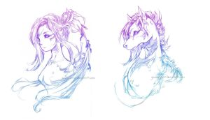Nature's Twins: SeaHorse by glaciesClOvEr