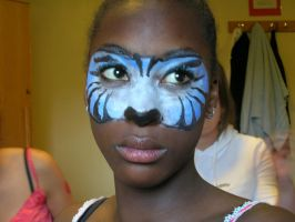 Face paint blue tiger by spirit0407