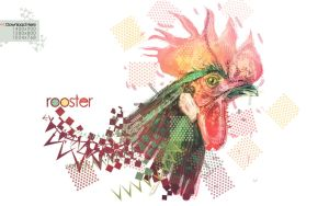 Rooster Wallpaper by metalsan
