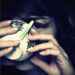 hiding behind a teacup by marshmallow-pies
