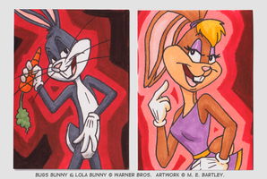 Bugs and Lola ATCs by generalmanx