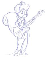 Tammy the Bassist by clockwork-Cat