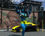 The new FBB Navi in the town by WolfsMuscleGirls
