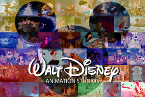 Walt Disney Animation Studios Postcard by Trinityinyang