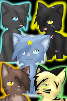 MidnighttheUmbreon's Top Warriors by MidnightTheUmbreon