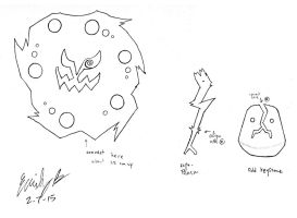 Spiritomb Paper Doll - LineArt by FroggyDreams