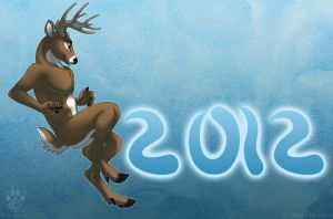 Happy Nude Deer 2012 by Idess