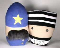 Keystone Cop and Bank Robber Plush Friends by Saint-Angel
