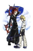 Axel and Roxas - KH2 by Alayna