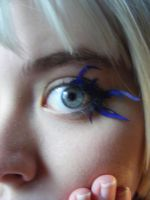 Homemade paper lashes blue by RaelXArts