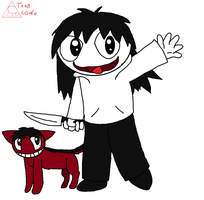 chibi jeff and smile by tooncooro