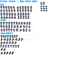 Saviour V13 Final Sprite Sheet 2014  -WIP- by Tha-Derpy-Jay