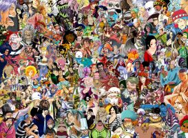 One Piece Collage WIP six... by wood5525