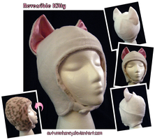 Reversible Kitty Hat - PINK by AutumnHoney