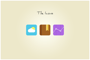 91 Tile Icons (freebie by pixelcave) by pixelcave