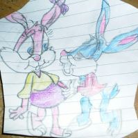 Buster and Babs Bunny... by founten