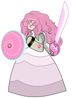 Old-Timey Rose with Weapons by Ben10OmninerseRules