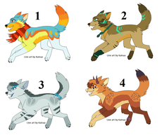 Wolf Adoptables :Closed: by LizzysAdopts