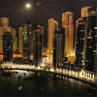 City at Night Dubai Marina by SaudiDude