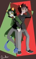 Karkat and Nepeta by BrookiexMonster