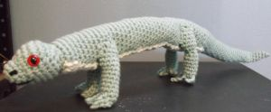snake lizard amigurumi by ShadowOrder7