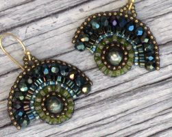 Green Glamour Earrings by MyFairLadyVT4