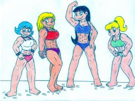 Muscle Nickelodeon Gals by Jose-Ramiro