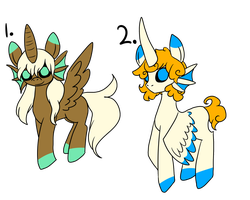 CLOSED fish pony adopts by Stupid--artist