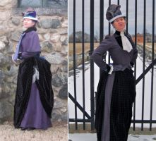 1887 winter day dress by ProfessorBats