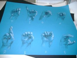 Sign language hands by Leerer-Raum