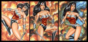 WONDER WOMAN NU 52 PERSONAL SKETCH CARDS by AHochrein2010