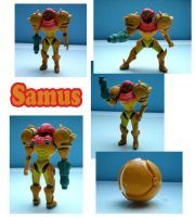 Samus Sculpture: Collage by ClayPita