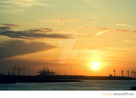 Industrial Sunset by ciscotjuh
