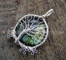 Labradorite Tree Pendant by Create-A-Pendant