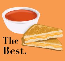 Grilled Cheese and Tomato Soup by EValdez