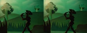 Unknow Forest stereoscopic image 3D by andresarte