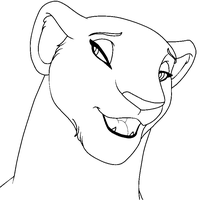 TLK Base seductive lioness by FallenFireFox