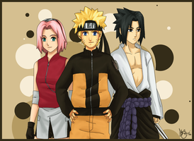 Naruto: TimeSkip Team 7 by BuD-bUd