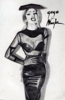 Lady Gaga For Mugler by Ninzz-MiniGoth