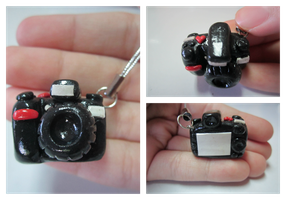 Polymer Clay Nikon DSLR Camera by MaxxeneStacey