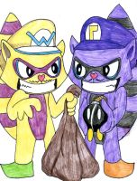 Wario and Waluigi HTF style by Slab-art