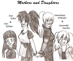 GBNaru+DBZ: Mothers+Daughters by kiotsukatanna