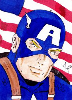 Captain America -ACEO for sale- by Jason-Lee-Johnson