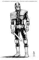 Judge Dredd - JAN 2013 Art Jam by JeremiahLambertArt