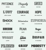 Font Pack #7 by shiny-a