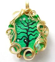 Twilit Forest Pendant no. 3 by sojourncuriosities