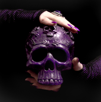 Purple Skull-2 by MorganCrone