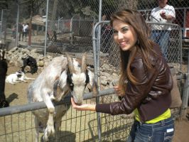 me and a goat by NicoleBrune